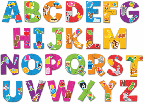Learning Resources Alphabet Puzzle Cards Perspective: back
