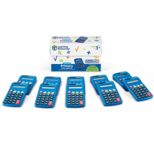 Learning Resources® Primary Calculators Perspective: back
