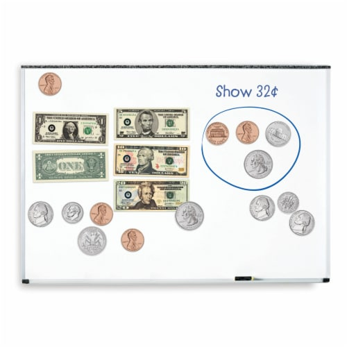 Learning Resources® Double-Sided Magnetic Money Set Perspective: back