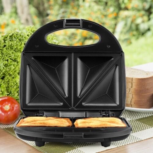 Continental 2-Slice Sandwich Maker Black Perspective: back