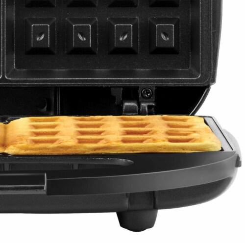 Continental 2-Slice Waffle Maker Black Perspective: back