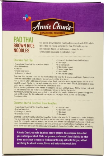 Annie Chun's Pad Thai Brown Rice Noodles Perspective: back