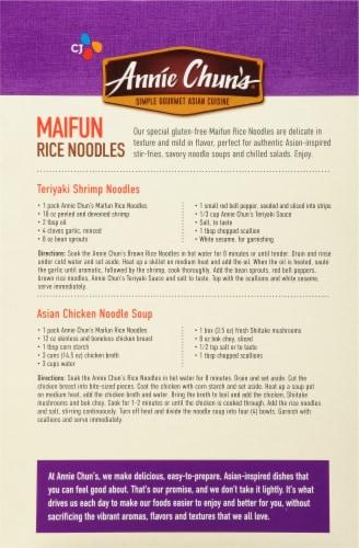 Annie Chun's® Gluten-Free Maifun Rice Noodles Perspective: back