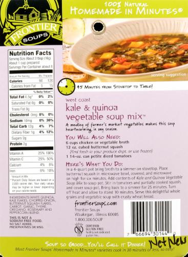 Frontier West Coast Kale Quinoa Vegetable Soup Mix Perspective: back
