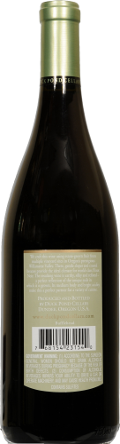 Duck Pond Pinot Noir Perspective: back
