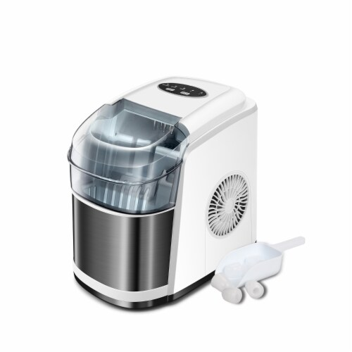 Kumo Portable Ice Maker Countertop - 9 Ice Cubes Ready in 6 Min Electric Ice Making Machine Perspective: back