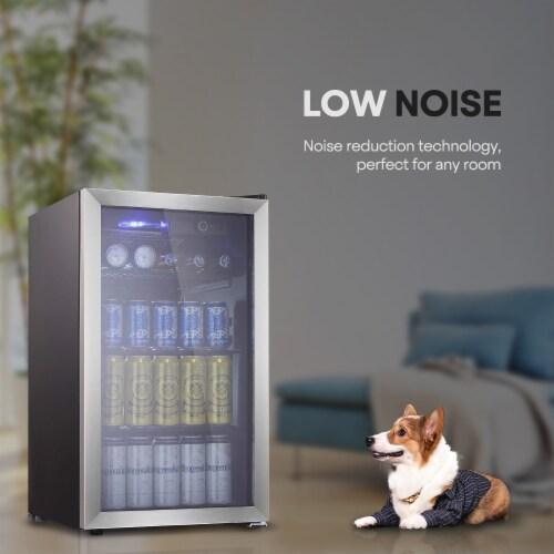 Kumo Beverage refrigerator 90 Can  Mini Fridge freestanding for Home, Office, Bar Perspective: back