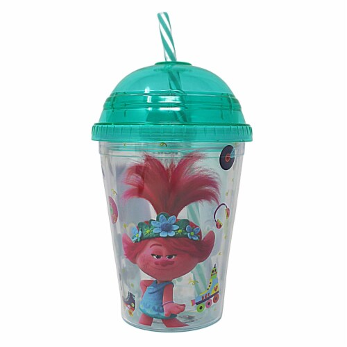 Trolls World Tour Tumbler with Mini Candy Lollipops Perspective: back