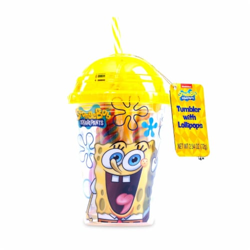 SpongeBob SquarePants Tumbler with Mini Swirl Lollipops Perspective: back