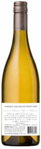 Acrobat Oregon Pinot Gris White Wine Perspective: back