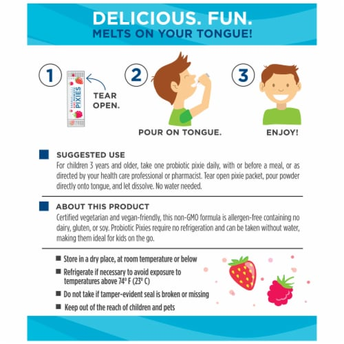 Nordic Naturals Kids Nordic Flora Rad Berry Probiotic Pixies Packets Perspective: back