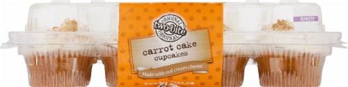 Two-Bite Mini Carrot Cake Premium Cupcakes Perspective: back