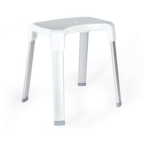 Better Living 70095 SMART 4 Shower Rust Proof Non Slip Aluminum Bench, White Perspective: back