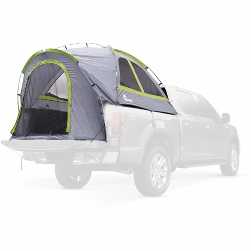Napier 19 Series Backroadz Full Size Regular Bed 2 Person Truck Tent, Gray/Green Perspective: back