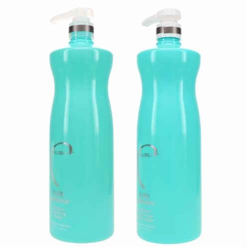 Malibu C Scalp Wellness Shampoo 33.8 oz & Scalp Wellness Conditioner 33.8 oz Combo Pack Perspective: back