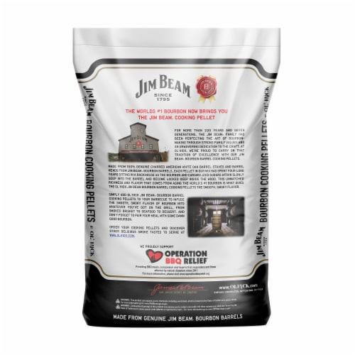 Ol' Hick Cooking Pellets Jim Beam Bourbon Barrel Grilling Cooking Pellets, 20 Lb Perspective: back