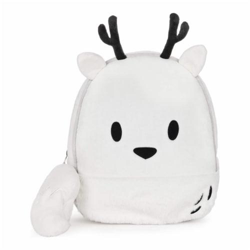 GUND 13 Inch Hilda Twig Soft Plush Kids Stuffed Animal School Backpack, White Perspective: back