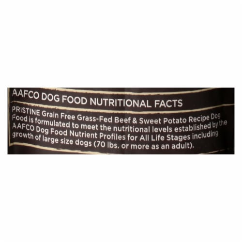 Castor and Pollux - Pristine Grain Free Dry Dog Food - Beef and Sweet Potato Perspective: back