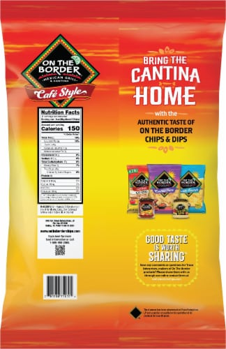 On The Border Cafe Style Tortilla Chips Perspective: back