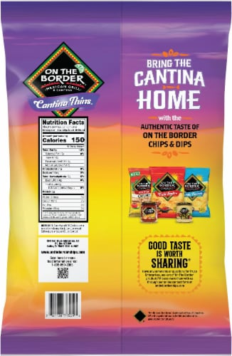 On the Border® Cantina Thins Tortilla Chips Perspective: back