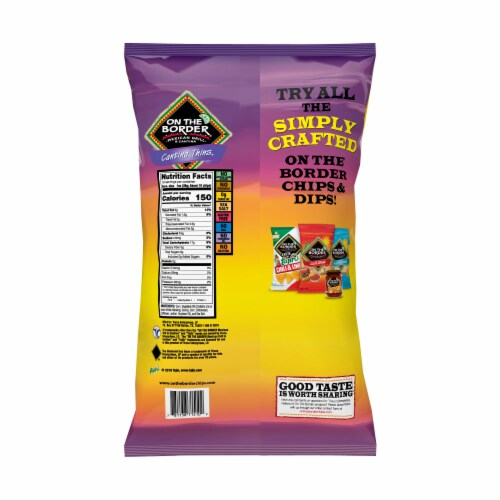 On The Border Cantina Thins Tortilla Chips Perspective: back