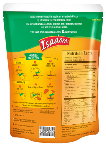 Isadora Black Refried Beans Pouch Perspective: back