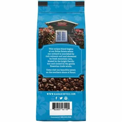 Kauai Coffee® Vanilla Macadamia Nut Ground Coffee Perspective: back