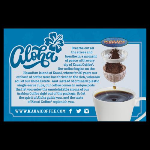 Kauai Coffee® Na Pali Coast Dark Roast Coffee Single-Serve Pods Perspective: back