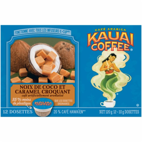 Kauai Coffee® Coconut Caramel Crunch Coffee Single-Serve Pods Perspective: back