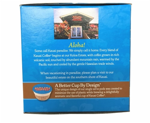 Kauai Coffee Mocha Macadamia Nut Single-Serve Pods, 12 Count Perspective: back