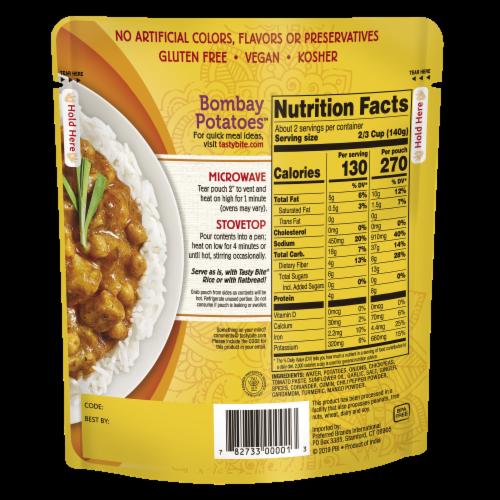 Tasty Bite Bombay Potatoes Perspective: back
