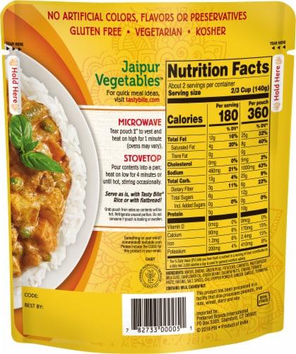 Tasty Bite Jaipur Vegetables Perspective: back