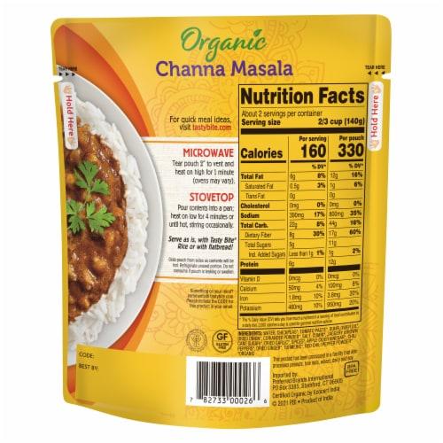 Tasty Bite Channa Masala Perspective: back