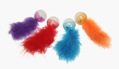 Multipet Lattice Ball with Feather (Assorted) Perspective: back