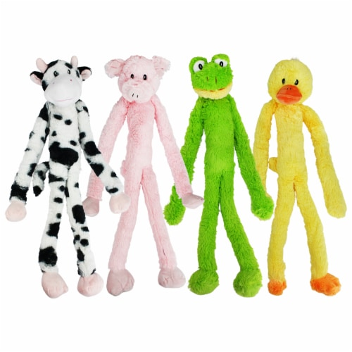 Multipet Swingin Slevins Squeaky Plush Dog Toy Perspective: back