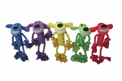 Multipet Rope Body Loofa Dog Toy - Assorted Perspective: back