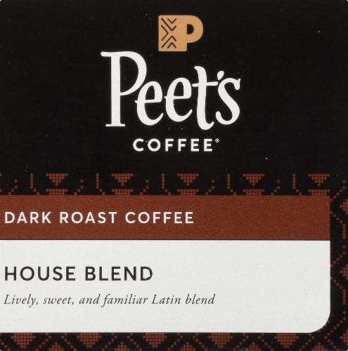 Peet's Coffee House Blend Dark Roast Coffee K-Cup Pods Perspective: back