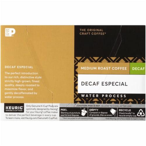 Peet's Decaf Especial Medium Roast Coffee K-Cup Pods Perspective: back