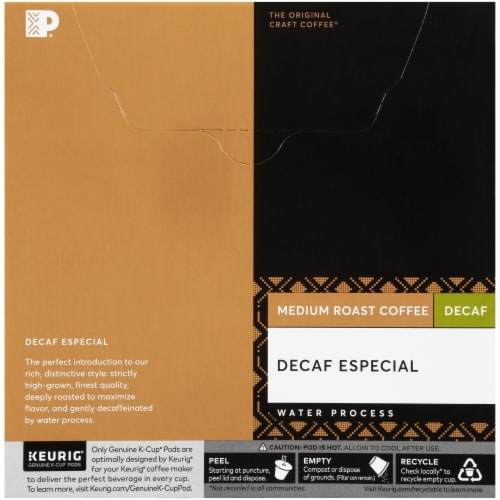 Peet's Coffee Decaf Especial K-Cup Pods 32 Count Perspective: back