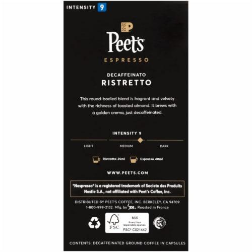 Peet's Coffee Decaffeinato Ristretto Espresso Coffee Capsules Perspective: back