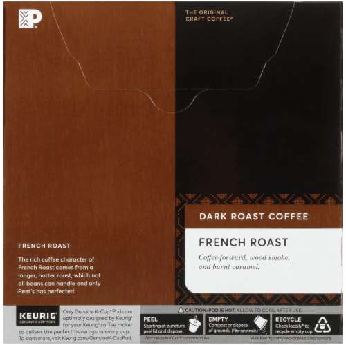Peet's Coffee French Roast Dark Roast Coffee K-Cup Pods Perspective: back