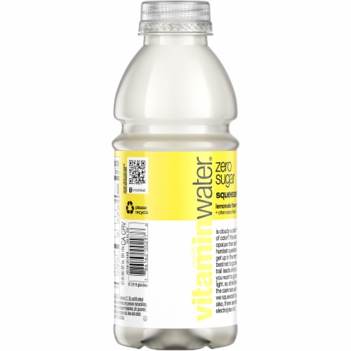 Vitaminwater® Zero Sugar Squeezed Lemonade Nutrient Enhanced Water Beverage Perspective: back