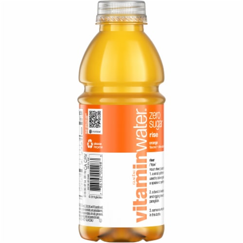 Vitaminwater® Zero Sugar Rise Orange Flavored Nutrient Enhanced Water Beverage Perspective: back