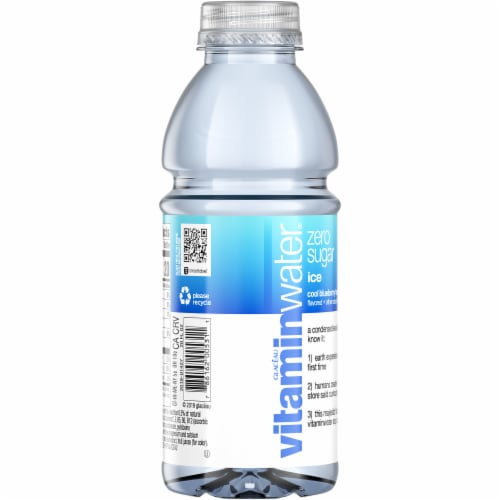 Vitaminwater Ice Cool Blueberry Lavender Nutrient Enhanced Water Beverage Perspective: back