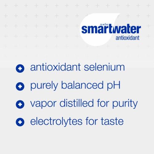 Smartwater® Antioxidant Vapor Distilled Water Perspective: back