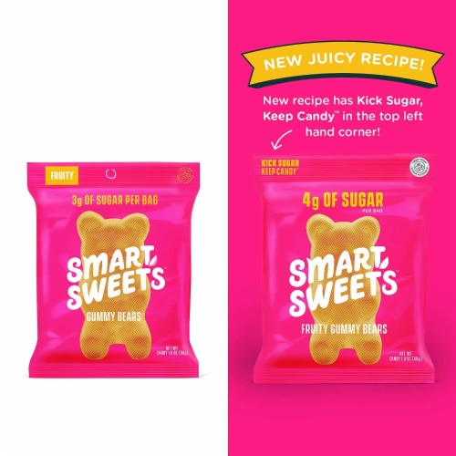 SmartSweets Smart Sweets, Gummy Bears Fruity, 1.8 Ounce (Pack of 12) Perspective: back