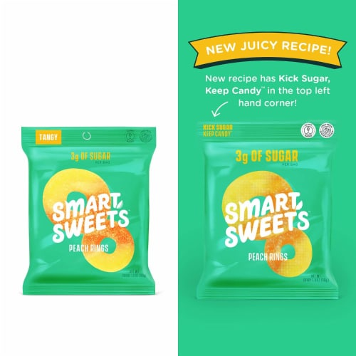 SmartSweets SMART SWEETS Peach Rings, 1.8 OZ (Pack of 12) Perspective: back