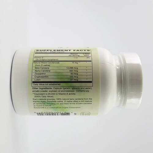 Holly Hill Health Foods, Beta Carotene, 90 Softgels Perspective: back