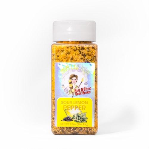 Mom Cave Sour Lemon Pepper Spice Blend Perspective: back