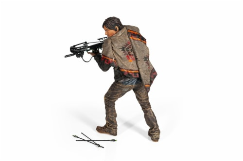 The Walking Dead Daryl Dixon Deluxe Poseable Figure | Measures 10 Inches Tall Perspective: back
